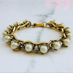 Pearl gold link Nordstrom bracelet